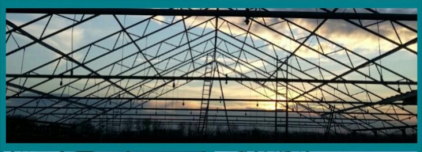 De opbouw van de kas in Winssen