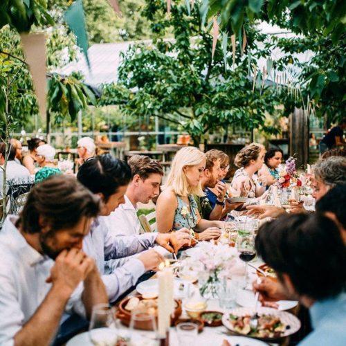In de kas jubileum feest bruiloft Gelderland
